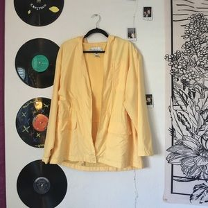 soft yellow raincoat